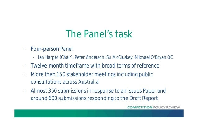 Ian Harper - 2015 AICD Conference - Competition Policy Review Slide 2