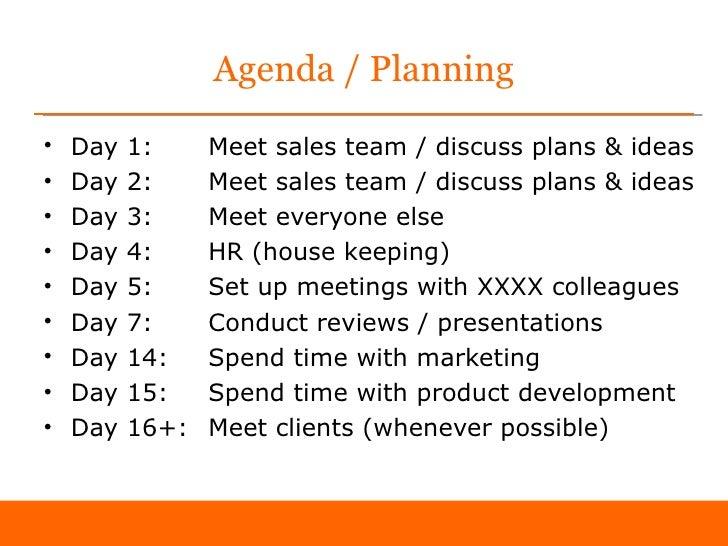 Agenda / Planning ...