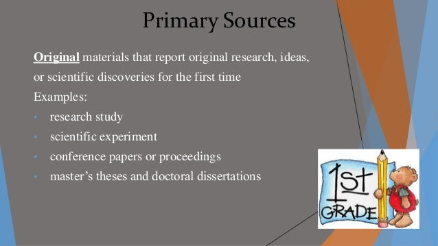 Dissertation research primary source