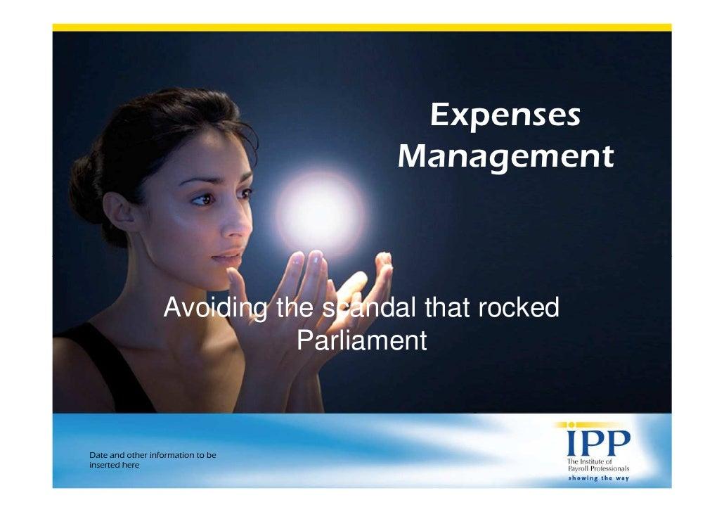 Expenses                                     Management                      Avoiding the scandal that rocked             ...