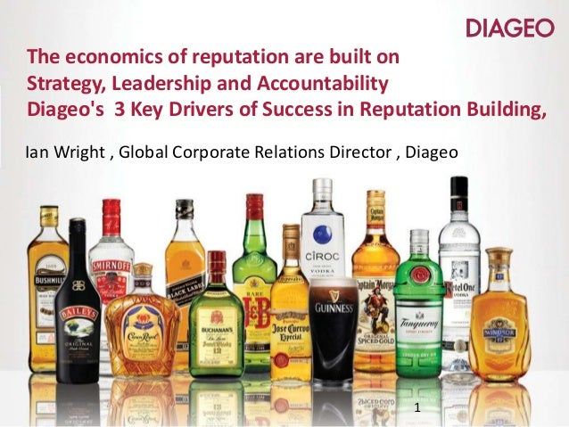 The economics of reputation are built on Strategy, Leadership and Accountability Diageo's 3 Key Drivers of Success in Repu...