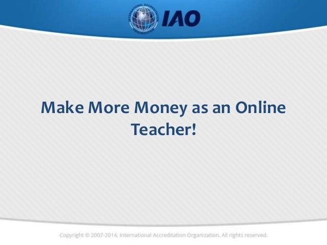 Make More Money as an Online Teacher!