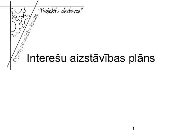 1 Interešu aizstāvības plāns