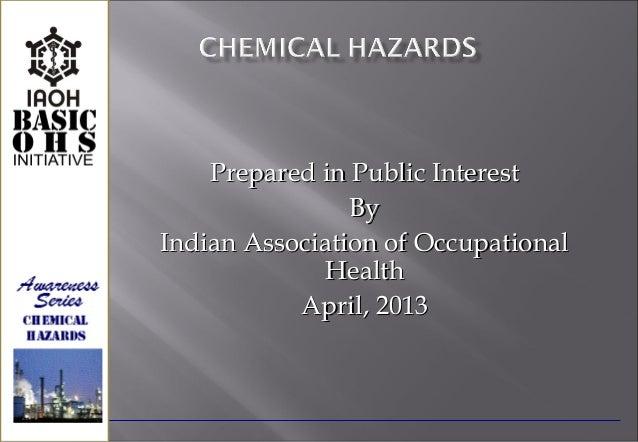 Prepared in Public Interest                ByIndian Association of Occupational             Health           April, 2013