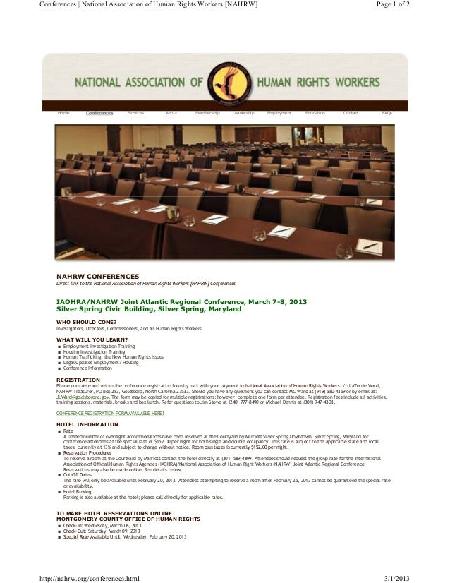 Conferences | National Association of Human Rights Workers [NAHRW]                                                        ...