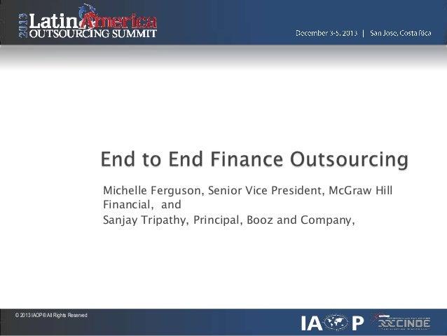 Michelle Ferguson, Senior Vice President, McGraw Hill Financial, and Sanjay Tripathy, Principal, Booz and Company,  © 2013...