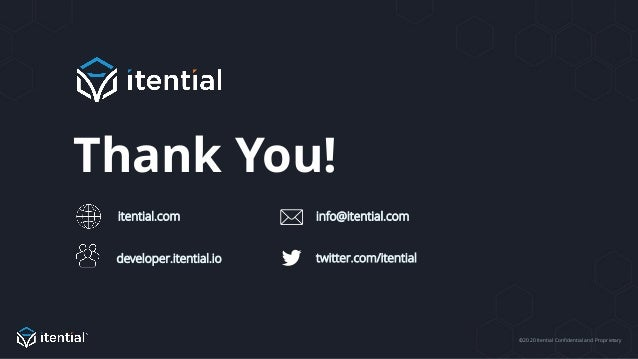©2020 Itential Confidential and Proprietary Thank You! info@itential.com twitter.com/itentialdeveloper.itential.io itentia...