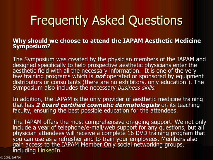 IAPAM Aesthetic Medicine Symposium Overview