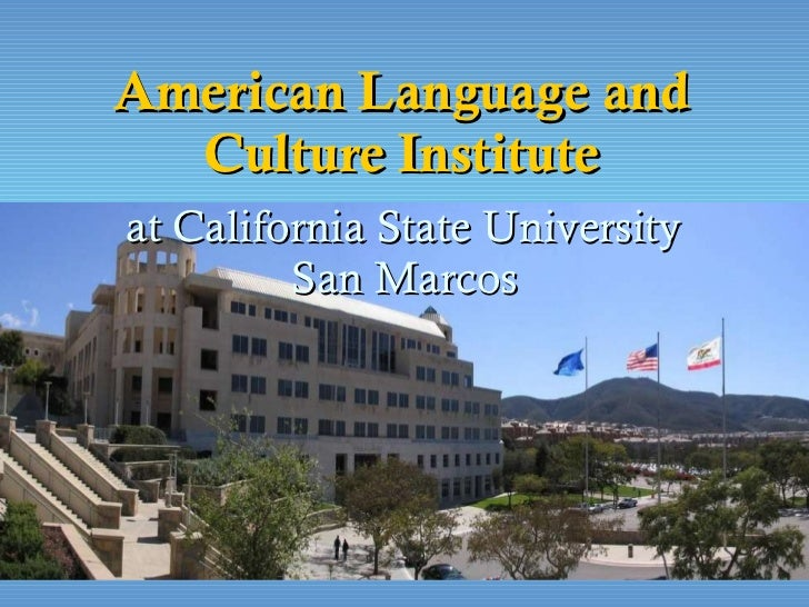American Language and Culture Institute at California State University  San Marcos