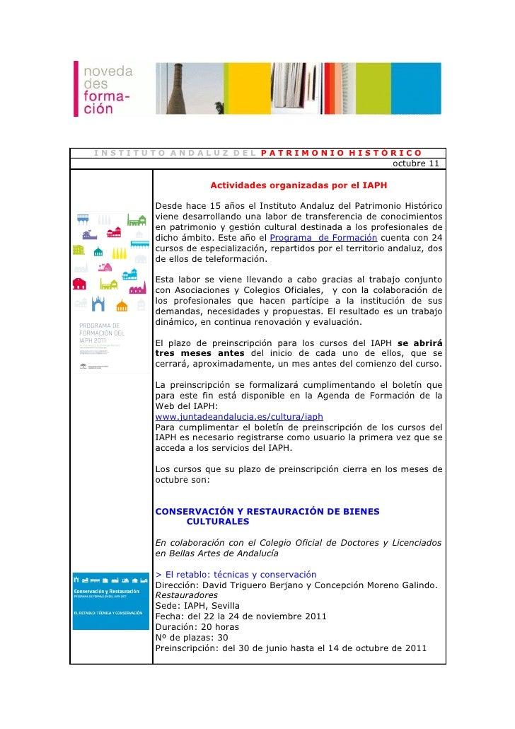 INSTITUTO ANDALUZ DEL PATRIMONIO HISTÓRICO                                                               octubre 11       ...