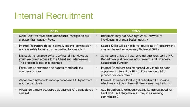 internal staffing Internal recruitment - is a recruitment which takes place within the concern or organization internal sources of recruitment are readily available to an organization internal sources are.