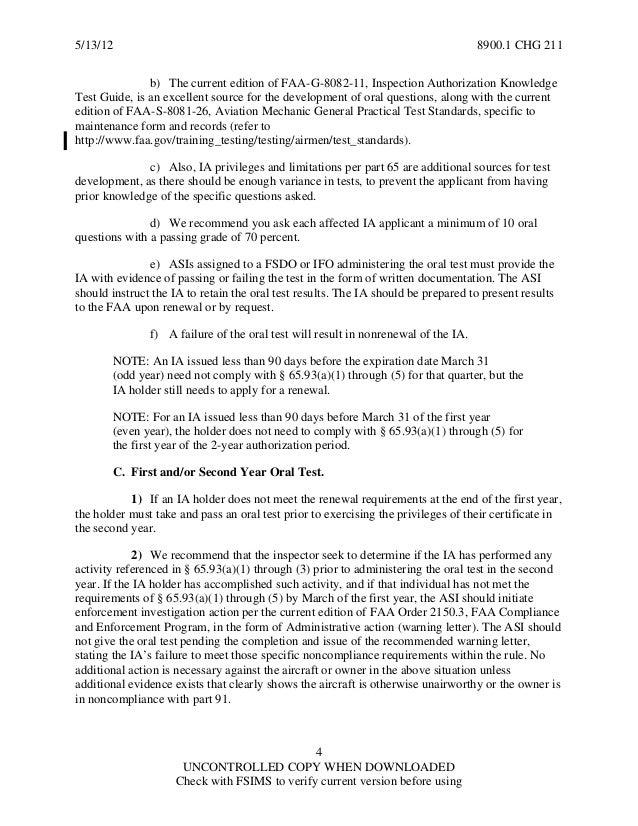 FAA IA renewal guidance
