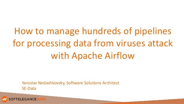 How to manage hundreds of pipelines for processing data from viruses attack with Apache Airflow Yaroslav Nedashkovsky, Sof...