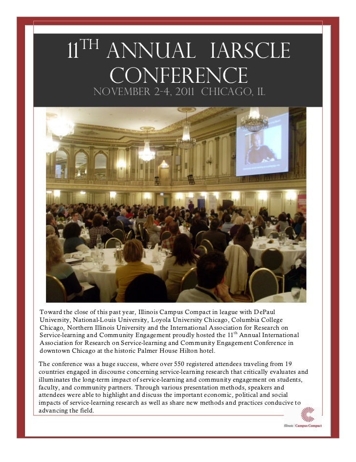 th          11            Annual IARSCLE                        Conference                   November 2-4, 2011 Chicago, I...