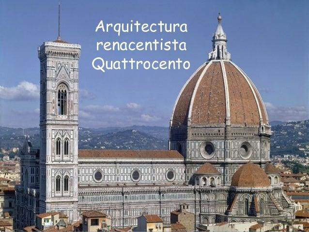 i arte renacimiento quattrocento arquitectura