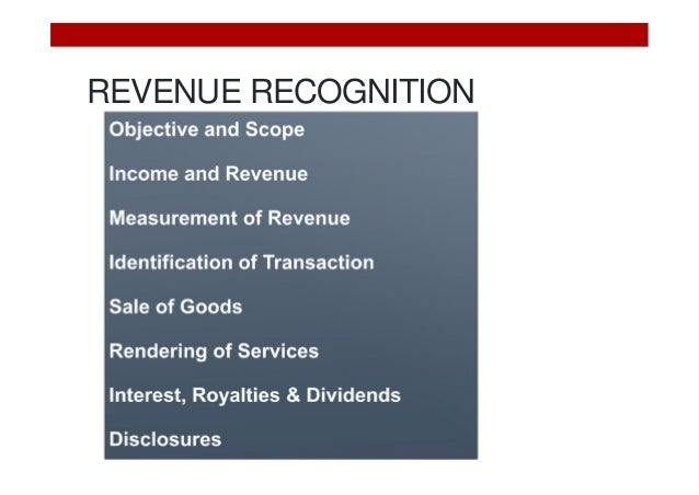 revenue recognition 2 essay The issue of revenue recognition practices is an area that has received a lot of attention from regulators whenever there is a report of financial restatements or negative earnings, regulators pay extra attention to review the financial statements in order to verify that that there are not any indications of financial fraud or that the organization overstepped their boundaries in the area of.