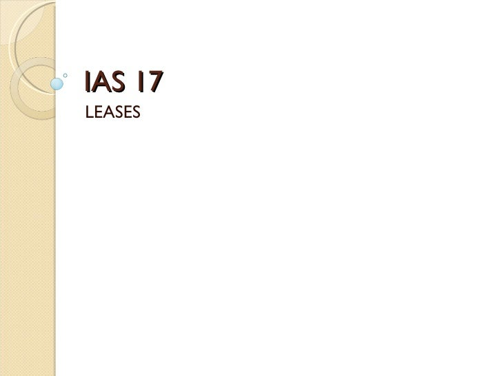 IAS 17 LEASES