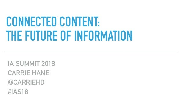 CONNECTED CONTENT: 