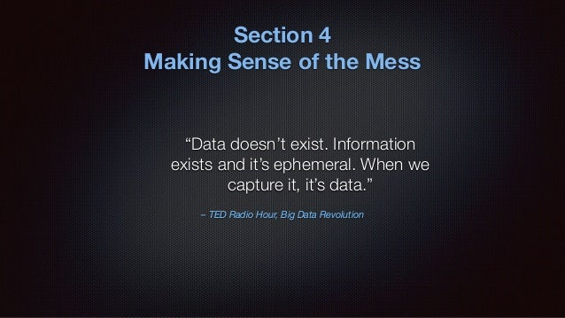 Analysis is the process of transforming raw data into actionable information and insights.
