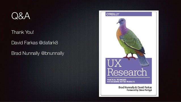 UX Research: Half Day Workshop IAS 2018, Chicago