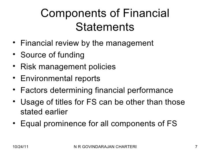review the financial statements