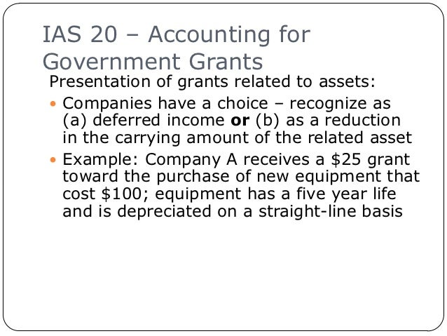 ias 20 View notes - ias20 from caf 2014 at polytechnic university of the philippines ias 20 international accounting standard 20 accounting for government grants and disclosure of government assistance in.