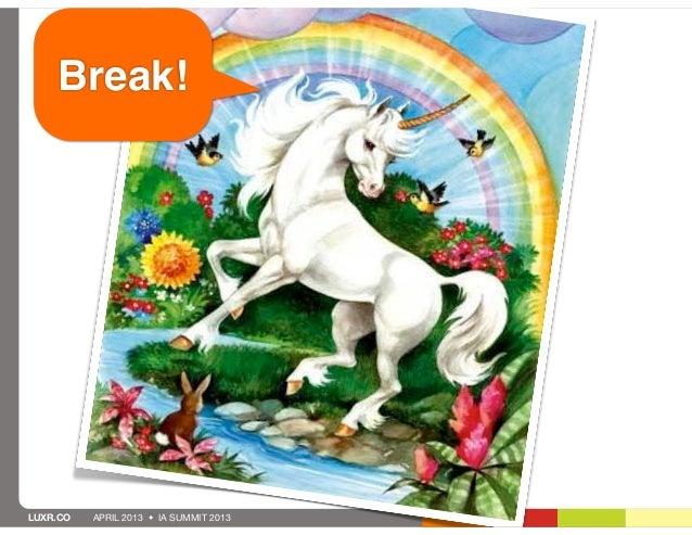 Break!LUXR.CO   APRIL 2013 • IA SUMMIT 2013