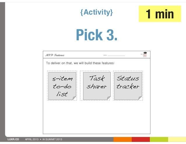 {Activity}                                                               1 min                                        Pick...