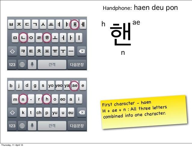 Handphone:      haen deu pon                                                           h              ae                  ...