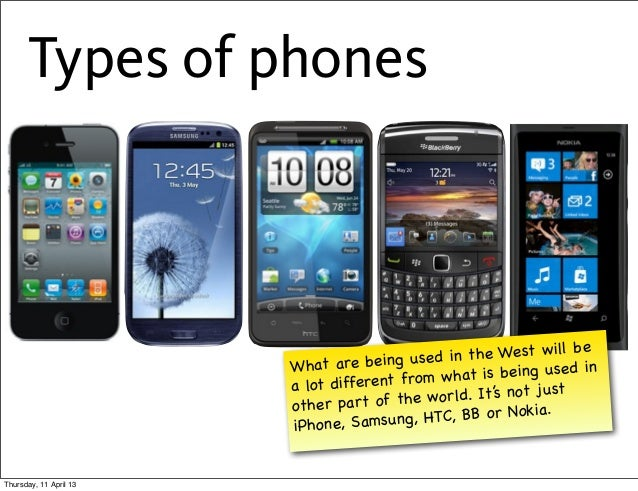 Types of phones                                                                   be                                      ...