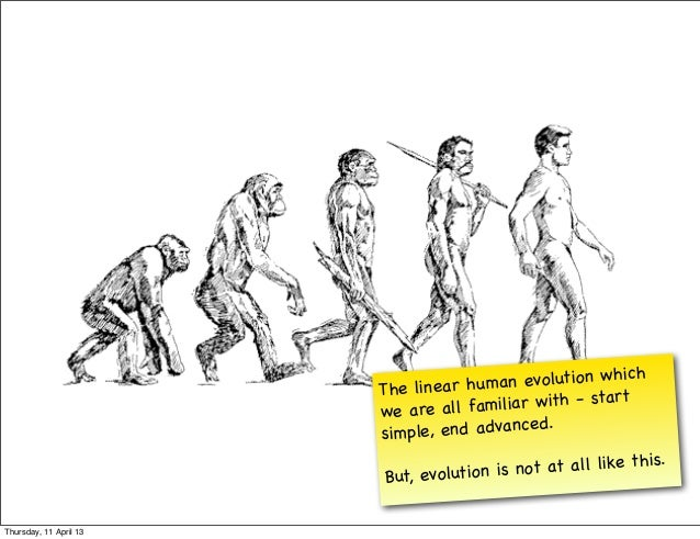 h                        The linear hu m  an evolution whic                        we are all fam   iliar w ith - start   ...