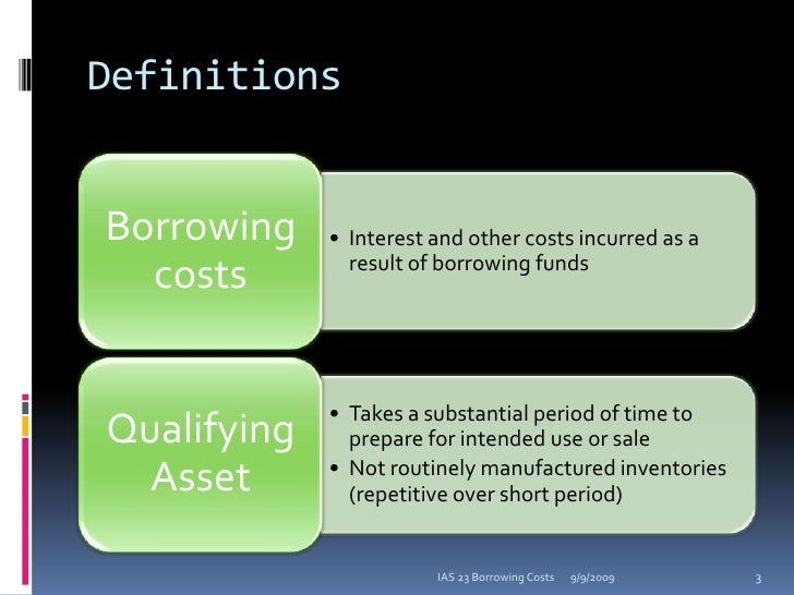 ias 23 borrowing costs examples