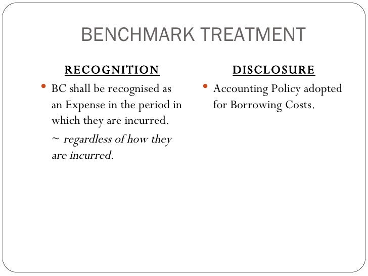 accounting for borrowing costs To prescribe the accounting treatment for borrowing cost incurred irrespective of its nature either capital or revenue and to interpret the said accounting standard in a fairly manner with the help of accounting standard interpretation as issued by icai with the advent of industrialisation.