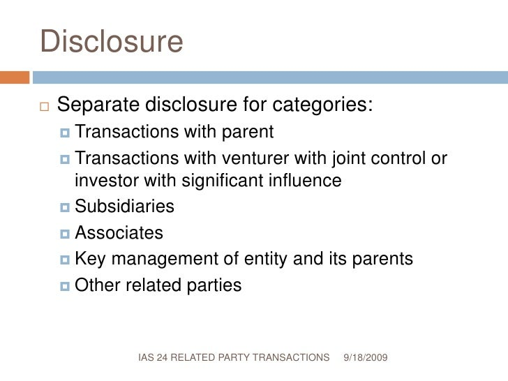 Related party transactions essay