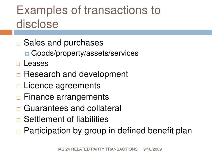 Ias 24 Related Party Transactions