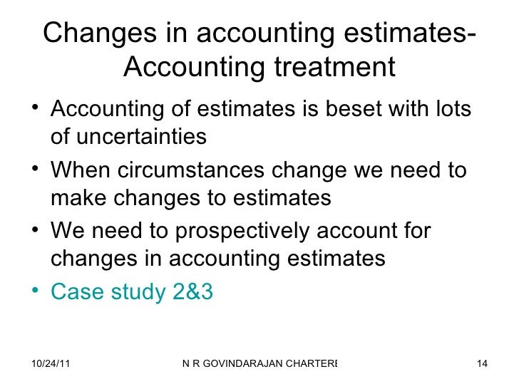 what is an example of a significant accounting estimate