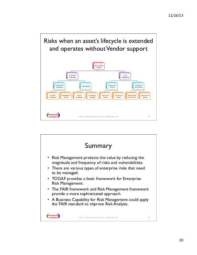 Building Risk Management into Enterprise Architecture