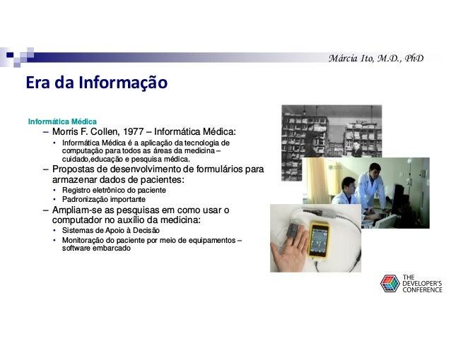 Márcia Ito, M.D., PhD Informática Médica – Morris F. Collen, 1977 – Informática Médica: • Informática Médica é a aplicação...