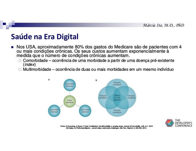 Márcia Ito, M.D., PhD Saúde na Era Digital Nos USA, aproximadamente 80% dos gastos do Medicare são de pacientes com 4 ou m...