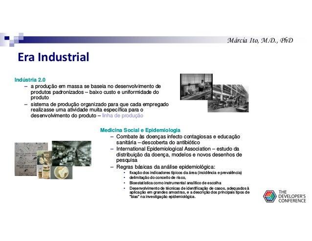 Márcia Ito, M.D., PhD Era Industrial Indústria 2.0 – a produção em massa se baseia no desenvolvimento de produtos padroniz...