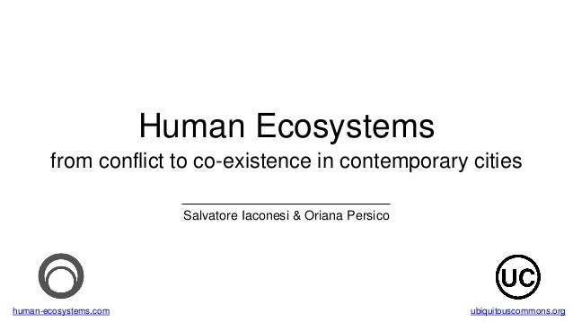 Human Ecosystems from conflict to co-existence in contemporary cities Salvatore Iaconesi & Oriana Persico human-ecosystems...
