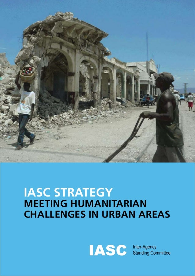 IASC STRATEGY MEETING HUMANITARIAN CHALLENGES IN URBAN AREAS