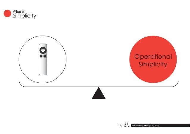 Simplicity What is Lixia Zhang, Heekyoung Jung Operational Simplicity MENU