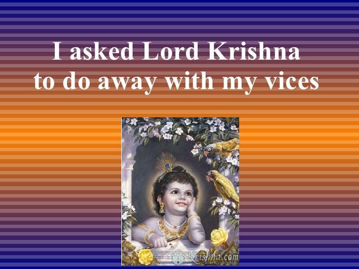 I Asked Krishna Slide 2