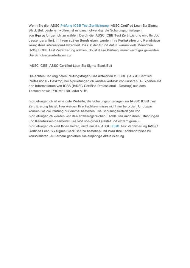 Iassc prüfung icbb test zertifizierung