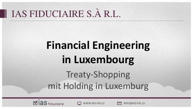 Steuerliche Substanzerfordernisse - Treaty Shopping Luxemburg Slide 2