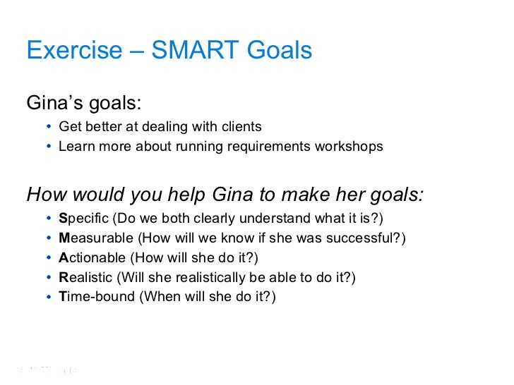 39 exercise smart goals - Sample Career Goals And Objectives