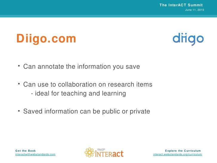 Diigo.com <ul><li>Can annotate the information you save </li></ul><ul><li>Can use to collaboration on research items </li>...