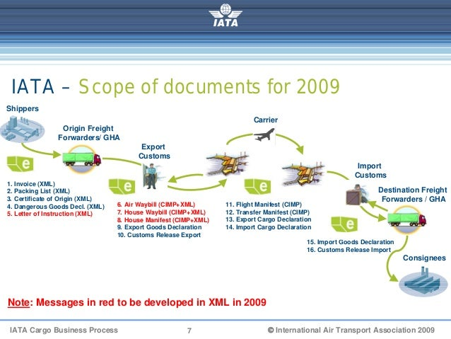 Iata Cargo Xml Electronic Messages Approach V0 4
