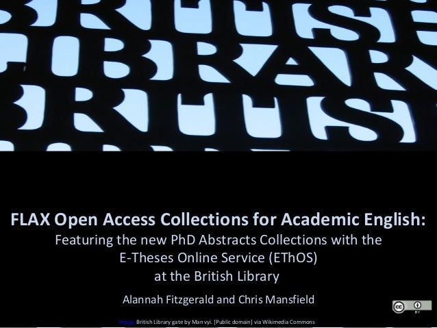 developing open access content into academic english resources for da  flax open access collections for academic english featuring the new phd abstracts collections the